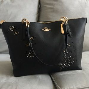 Coach heart rivet tote and wristlet!